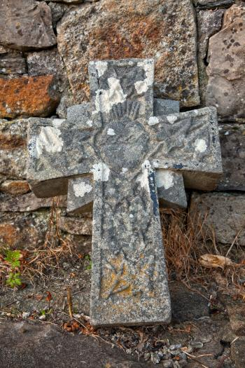 Donegal Cemetery Stone Cross - HDR