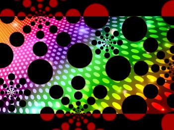 Dots Background Means Decorative Round Spots And Patterns