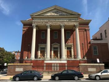 Douglas Memorial Community Church/Former Madison Avenue Methodist Episcopal Church (1857; Thomas Balbirnie, architect), 1325 Madison Avenue, Baltimore, MD 21217