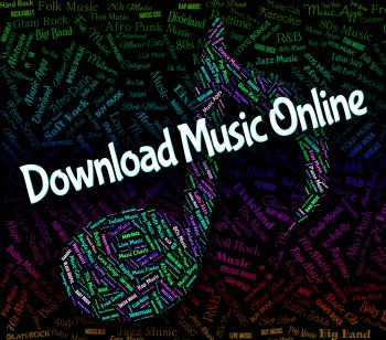 Download Music Online Represents Web Site And Audio