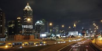 Downtown Atlanta at night