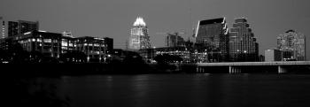 Downtown Austin in Black and White