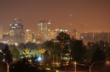 Downtown Bellevue from Overlake at night 3