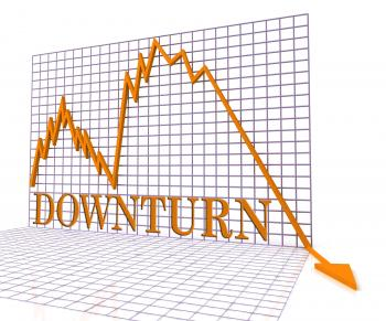 Downturn Graph Represents Market Chart And Loss 3d Rendering