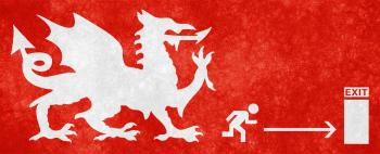 Dragon Escape Grunge Sign