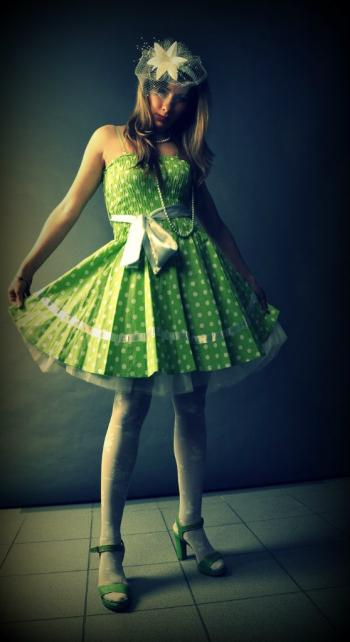 Dress in peas