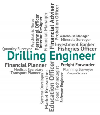 Drilling Engineer Shows Oil Well And Career