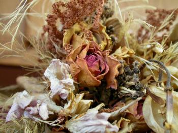 Dry flower decoration