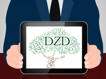 Dzd Currency Means Foreign Exchange And Algerian