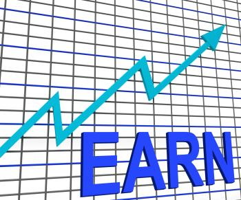 Earn Graph Chart Shows Increase Earnings Growing