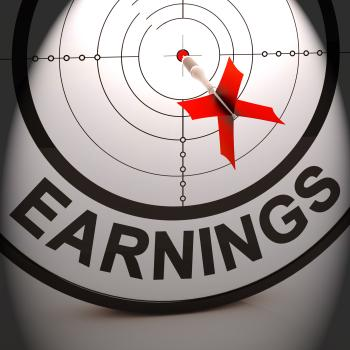 Earnings Shows Investment Profit Income And Dividends