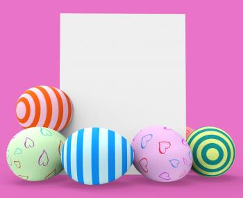 Easter Eggs Represents Blank Space And Copy-Space