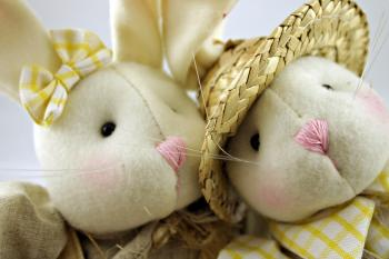 Easter rabbits closeup