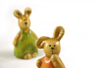Easter rabbits - one closeup