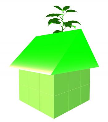 Eco Friendly House Shows Earth Day And Building