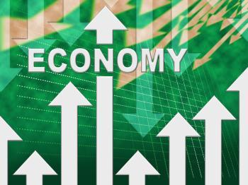 Economy Graph Indicates Micro Economics And Charts