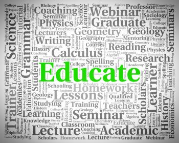 Educate Word Shows Develop Studying And University