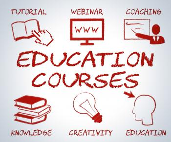 Education Courses Means Web Site And Online Learning
