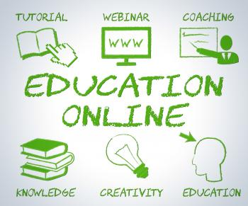 Education Online Means Web Site And Educate