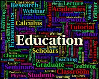 Education Word Means Development Educate And Tutoring