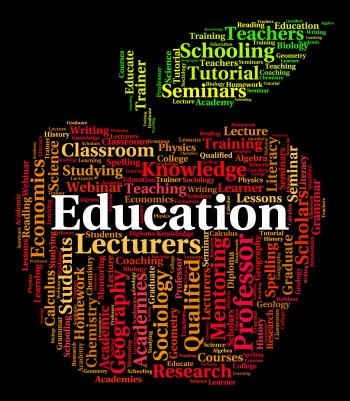 Education Word Represents Words Study And Training