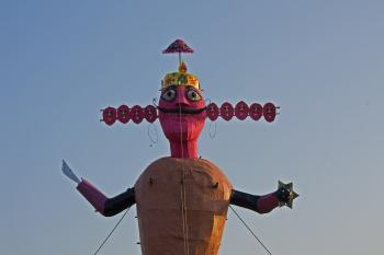 Effigies of Ravan on Dusherra