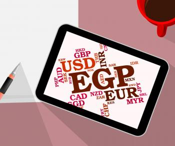 Egp Currency Represents Forex Trading And Exchange