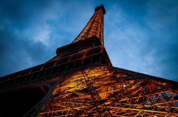 Eiffel Tower evening view, Paris, France