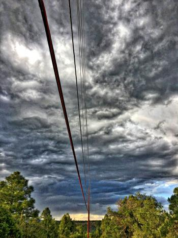 Electric Sky Over Electric Lines