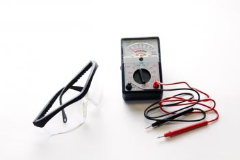 Electrical safety - glasses and meter