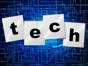 Electronic Circuit Represents Hi Tech And Computing