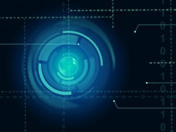 Electronic Sensor Background Means Eye Sensor Or Trendy Technology