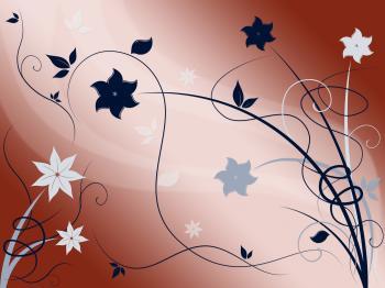 Elegant Floral Background Means Fine Flower Arrangement Or Decoration