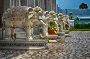 Elephant statute