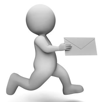 Email Message Represents Communicate Communication And Man 3d Renderin