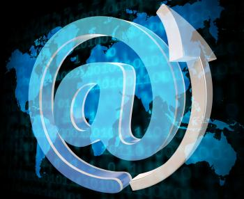 Email Sign Shows Send Message And Communicate