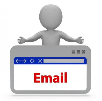 Email Webpage Represents Postal Post And Correspond 3d Rendering