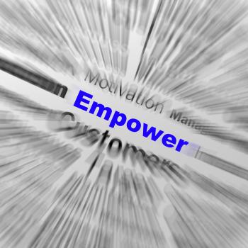 Empower Sphere Definition Displays Motivation And business Encourageme