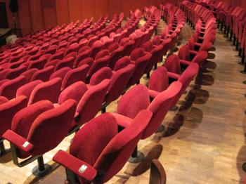 Empty theater hall seats