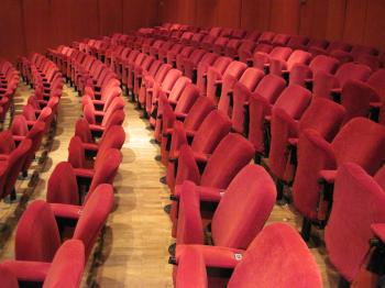 Empty theatre hall