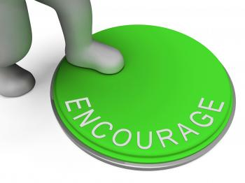 Encourage Switch Indicates Motivate Encouraging And Boost