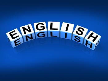 English Blocks Refer to Speaking and Writing Vocabulary from England