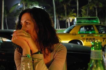 Enjoying Ocean Drive, Miami Beach, Janua