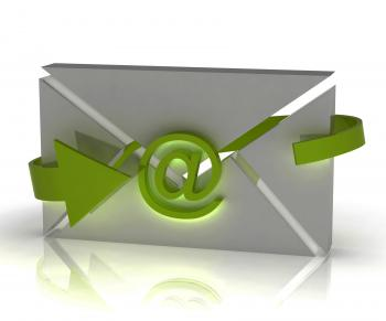 Envelope Sign Shows Internet Communication Message Online
