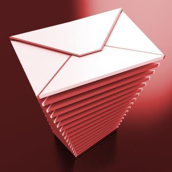 Envelopes Shows E-mail Message Inbox Mailbox