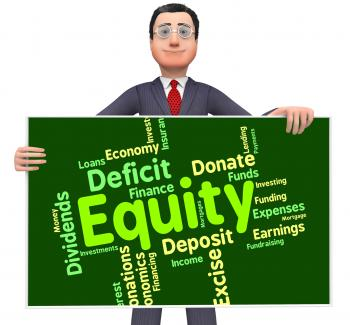 Equity Word Shows Fund Capital And Riches