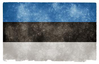 Estonia Grunge Flag