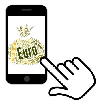 Euro Currency Represents Forex Trading And Banknote