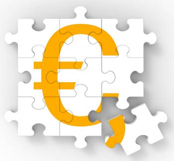 Euro Puzzle Shows European Currency