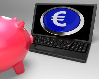Euro Symbol Button On Laptop Showing Savings